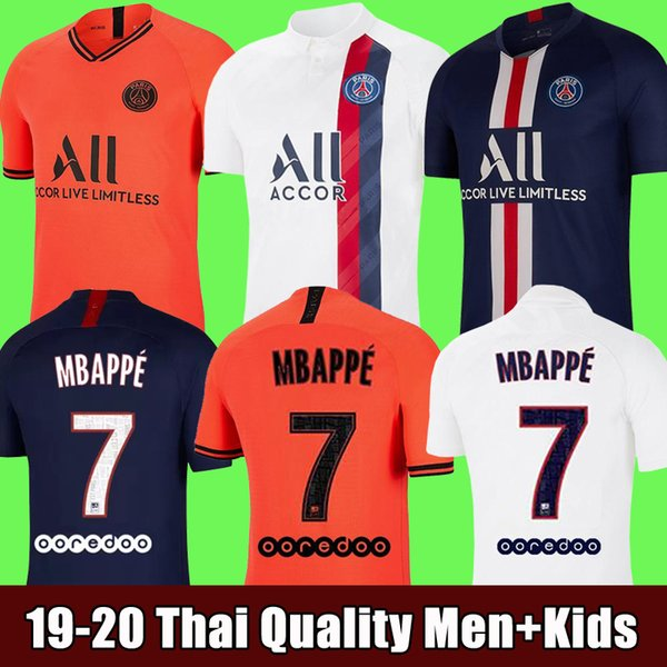 top popular 19 20 PSG maillots de foot MBAPPE soccer jersey CAVANI top thailand 2019 2020 paris football shirt MARQUINHOS Men+Kids Camiseta de futbol 2019