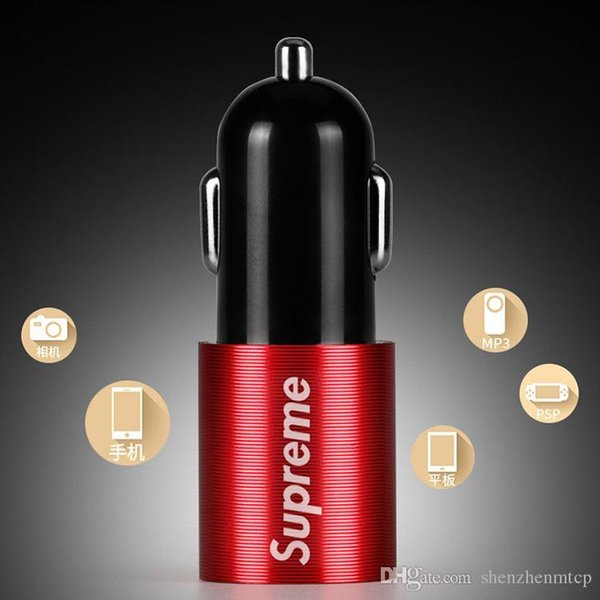 Mini-USB-Autoladegerät für Handy Tablet GPS 2.4A Schnellladegerät Auto-Ladegerät Dual-USB-Autoladegerät-Adapter im Auto