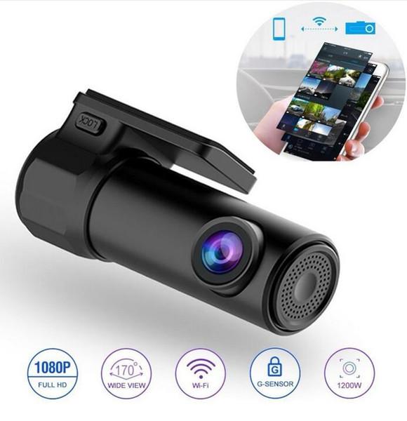 2019 Dash Cam Mini WIFI Cámara DVR para coche Grabadora digital Grabadora de video DashCam Videocámara Auto DVR inalámbrica Monitor