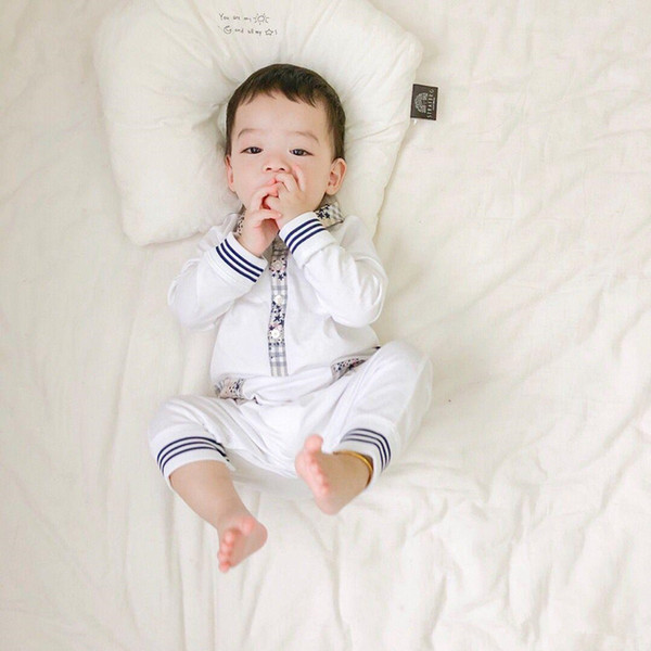 best selling 100%Cotton Newborn Baby Boys Autumn Kids Girls Long Sleeve Romper Clothes Long Pants jumpsuit Warm Outfits