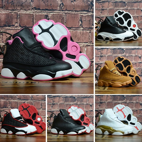 Compre Nike Air Jordan 13 Retro Diseñador Baby 13 Kids Calzado De Baloncesto Para Niños Calzado Deportivo Para Niños 13s Para Niños, Niñas, Zapatos,
