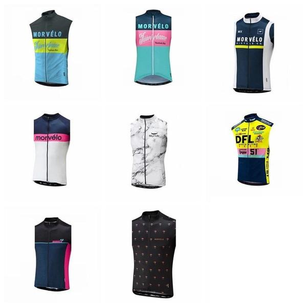 Morvelo 2019 equipo Hombres Ciclismo Mangas cortas Sin mangas Jerséis Chaleco Transpirable Ropa de ciclismo Ropa de secado rápido Ciclismo 304517