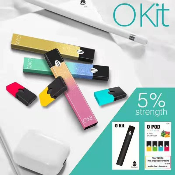Vape Pod Kit O KIT E Cigarette Starter Kits Vape Oil Pen 280mAh Battery 4 1.0ml Empty Cartridges Micro USB Charger OKIT