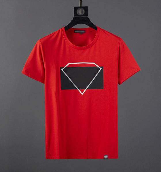 Designer com marca mens camiseta moda de luxo tee novo best selling top quality clássico algodão bordado camiseta rua hip hop esporte tees