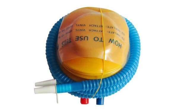 Attrezzo gonfiabile mini pallone Pompa aria giocattolo Pompa a pedale Piedino gonfiabile Specifiche XL Colore Giallo PVC ordinario