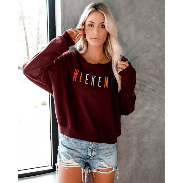 Damenmode Einfarbige Kapuzenpullis Explosion Mode Herbst Langarmhemd Designer Buchstaben Gedruckt Damenmode