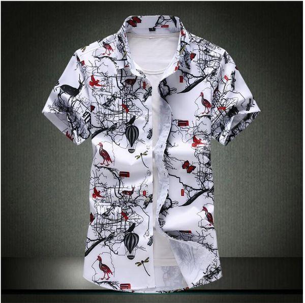 Summer Men Shirt Plaid Short Sleeve Shirts Streetwear Men Dress Mens Shirts Clothing 2019 Casual Slim Fit Man Shirt Work Clothes