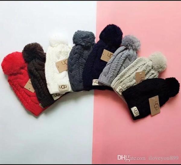 Hight qualité hommes femmes automne hiver 2018 beanie casual sport casquette tricotée ski gorro couleur pure casquettes