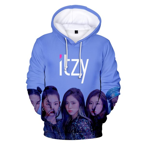 New Style 3D Character Korean Idol Singer's Team ITZY Hoodie Fans Hoody Young People Sweatshirt Girl's Chic Simple Clothes Women