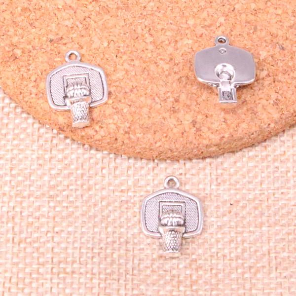 80 pcs Antigo de Prata Banhado cesta de basquete Encantos Pingentes fit Fazendo Pulseira Colar Descobertas Jóias Jóias Artesanato Diy 20 * 15mm