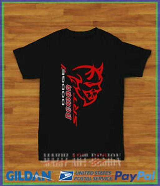 New SRT RAM DODGE DEMON Logo Harajuku T-Shirt Men's Size S-XXL USA