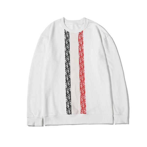 Designer Hommes Hooody Marque Simple Blanc À Manches Longues Col Rond De La Mode Casual Hommes Femmes Printemps Automne À Capuche Taille Disponible De M À 2XL