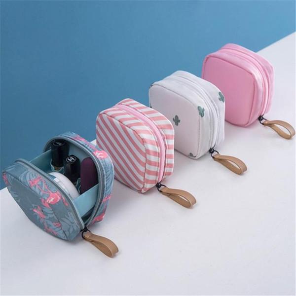 Mini Solid Color Flamingo Sacs cosmétiques Voyage Cactus Toiletry Sac de rangement Sac de beauté maquillage cosmétiques Organisateur vente Hot