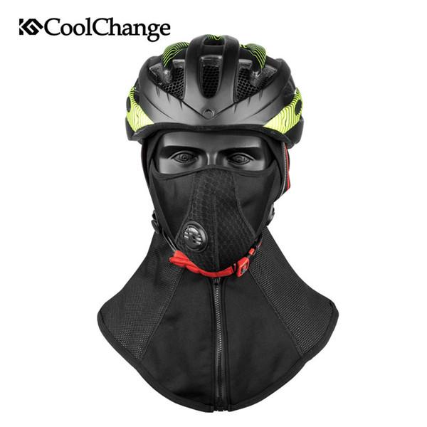 Coolchange Winter Cycling Face Mask Cap Ski Bike Mask Thermal Fleece Snowboard Shield Hat Cold Headwear Bicycle Training Mask