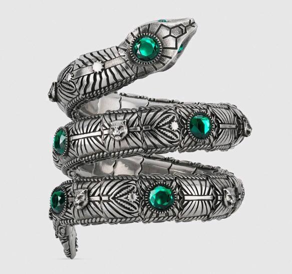 EW alta qualità del braccialetto atmosfera moda fortunato braccialetto mano degli uomini dei monili triciclico serpente dal design di lusso intarsiato con crb38b verde #
