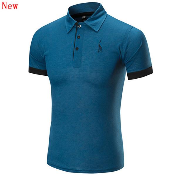 Frete grátis nova alta qualidade dos homens bordado camisa polo para homens polos designer de algodão camisa de manga curta marcas wn15