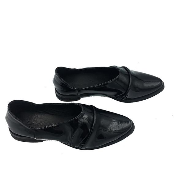 2019 New Web Celebrity Women Shoes Autumn Shoes Flat Casual Women'S Korean Version Of Britain Versatile Single British style casual shoes