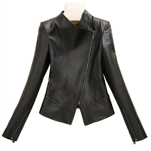 2018 casaco de pele das mulheres gola das mulheres projeto curto casaco de couro genuíno jaqueta de couro feminino clothing