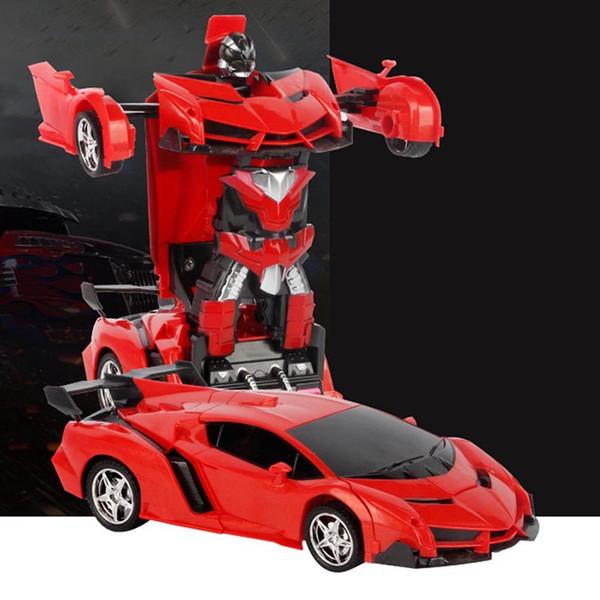 Geste Sensing Fernbedienung Roboter One Button Transformation Auto Kinder Spielzeug Geschenk 998
