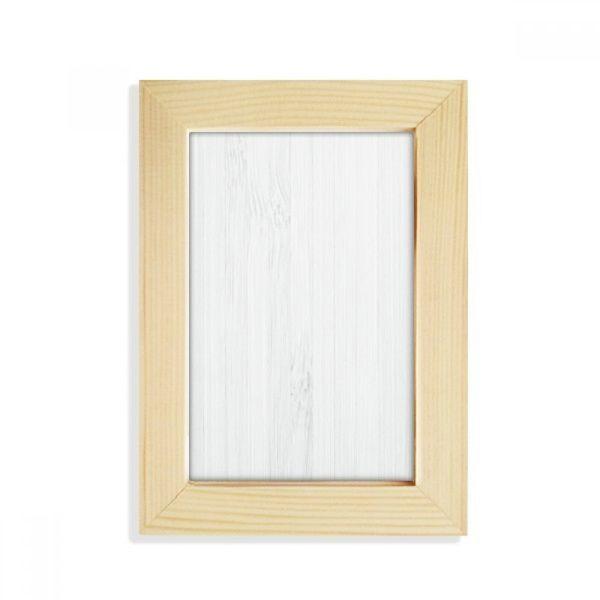 DIYthinker White Wood Veins Pattern Background Desktop Wooden Photo Frame Picture Art Painting 5x7 inch