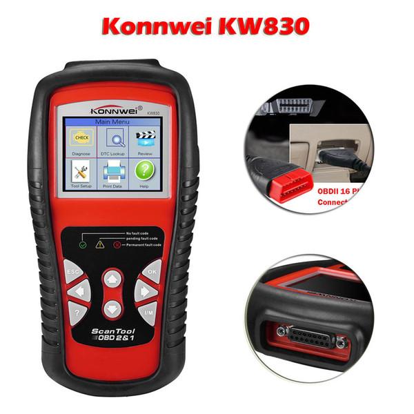Konnwei KW830 multi-langues OBDII OBD2 lecteur de code LCD de voiture testeur de données outil de diagnostic outil d'analyse pour tous les 1996 et plus tard OBDII M28