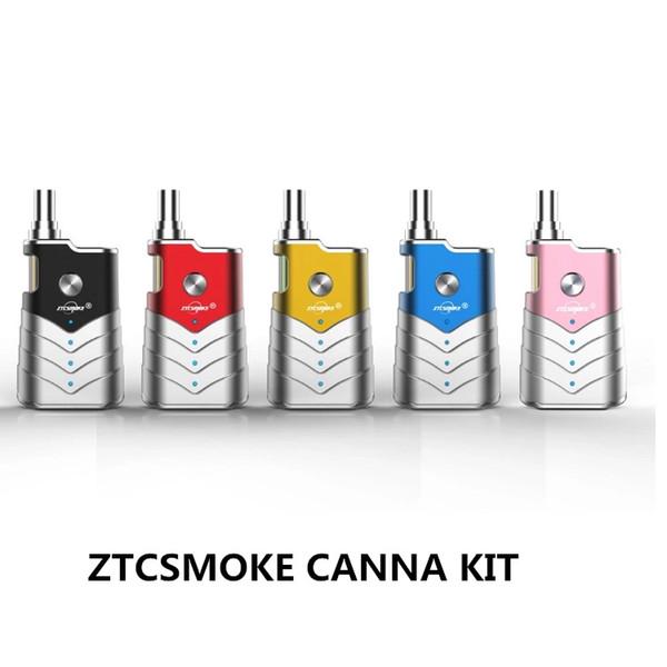 ZTCSmoke Vaporizer CANNA Starter Kits Vape Battery 400mah Thick Oil mini cart box mod with 0.5ml cartridge e cigarette vape pen Authentic