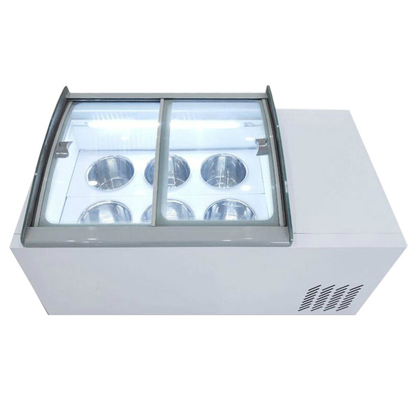 best selling 190W New ice cream display cabinet commercial freezer for cold drinks shop store supermarket ice cream display cabinet