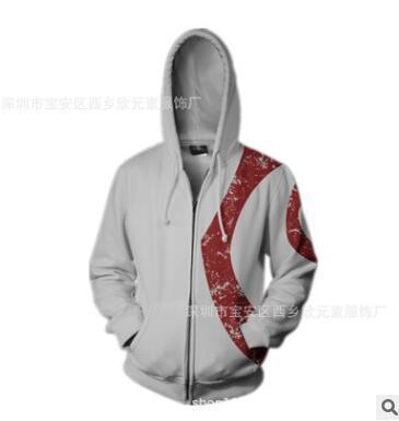Новая внешняя торговля LBL20 бог войны косплей свитер цифровой печати длинным рукавом головы молнии рубашку осень зима мужской wearD175