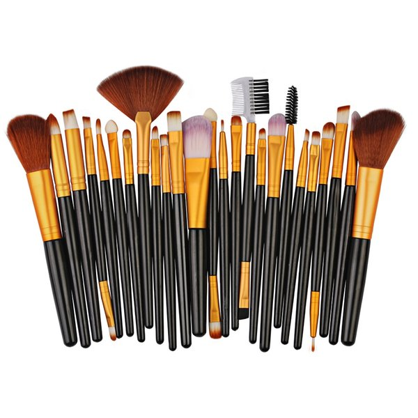 MAANGE Pro 25pcs Set de pinceles de maquillaje Beauty Foundation Power Blush Eye Shadow Eyebrow Lip Face Make Up Cosmetic Brush Kit Tools Free Ship BV