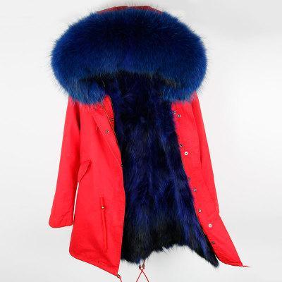 Red blue fur