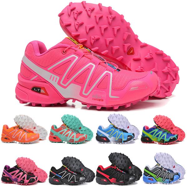 [Avec une boîte] 2019 Designer shoes Salomon men women Cross 3CS III Chaussures de course à pied pour femme zapatos hombre Speed Sport Sneakers Femme Noir Chaussures de running