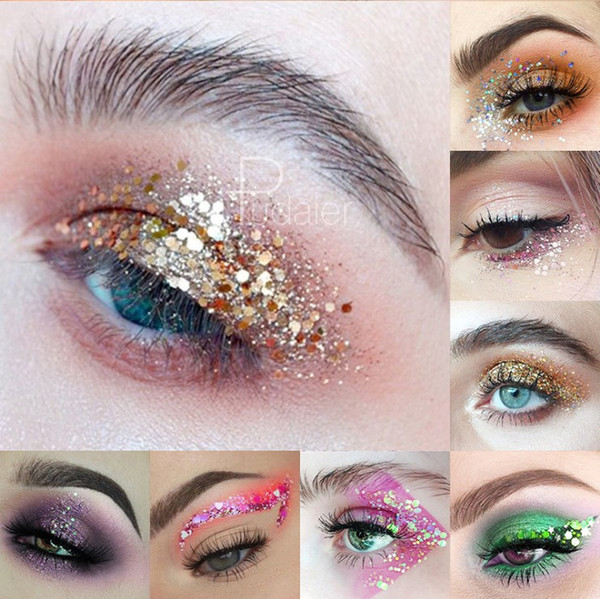 34 Farben Glitter für Art Body Art Glitter Tattoos Puder Gel Haar Auge Glitter Flash Herz Lose Pailletten Nude Face Cream Festival Glitter