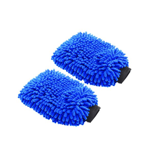 2pcs Microfiber Car Wash Mitt Ultrafine Fiber Chenille Wash Glove Soft Mesh backing no scratch for Car Wash and Cleaning