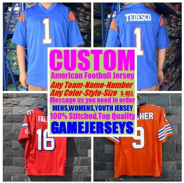 c105678eedcb Custom american football jerseys college cheap authentic customize soccer  sports jersey stitched mens womens youth kids