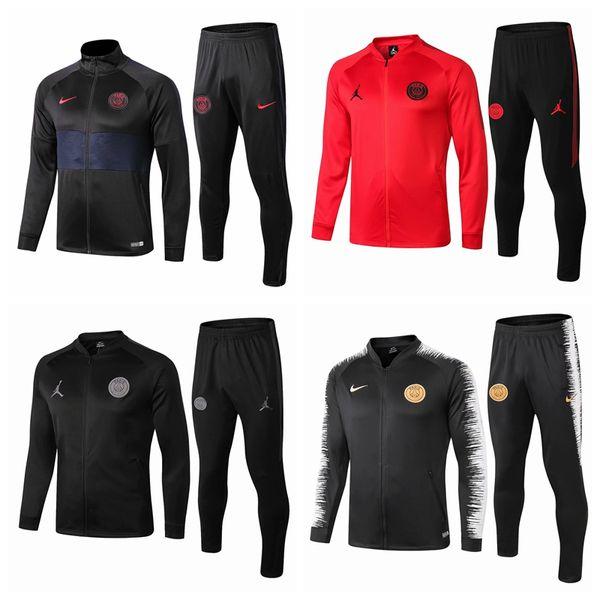 Neues PSG Fußballjacke Trainings survêtement 18 19 20 Paris Mbappe Sportbekleidung Fußballjacke mit Kapuze Trainingsanzug