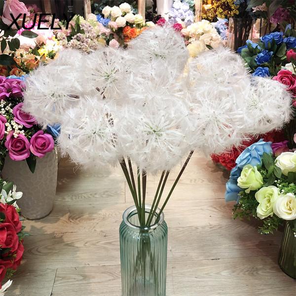 flower decoration for wedding reception.htm 2020 fake flower artificial flower white dandelion home decoration  2020 fake flower artificial flower