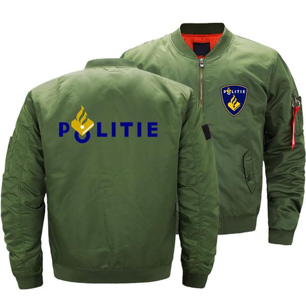 Exército Verde Da Motocicleta Ma-1 Piloto Air Men Países Baixos Politie Bomber Jacket Homens Harajuku Casacos de Inverno 5XL
