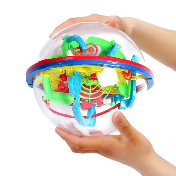 100 Bariyerler 3D Labirent Büyülü Akıl Topu Dengesi Labirent Bulmaca oyuncaklar çocuklar için 3d bulmaca brinquedos C5812