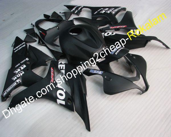Cowling For Honda CBR600RR F5 Motorcycle 07 08 600RR CBR 600 RRF5 2007 2008 Motorbike Black ABS Plastic Body Fairing Kit (Injection molding)