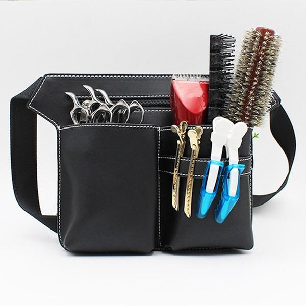 Aequeen Professional Salon Hair Scissor Bag Pu Tijera Clip Shear Bags Tool Peluquería Holster Holder Case Case Cinturón Bolsa de herramientas T190706