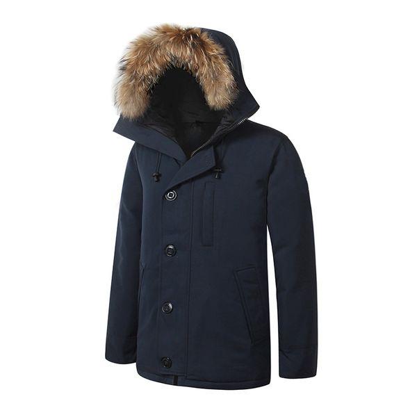 Canada Brand Winter Cold Down Jacket Men's EUR Size 80% White GOOSE Down Jacket Men's Fashion Premium Premium Outdoor Ski Jacket Size S-2XL