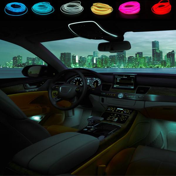 Maxup 3M refit interno atmosfera light dash board freddo led luce decorativa con 12v controller inverter styling auto