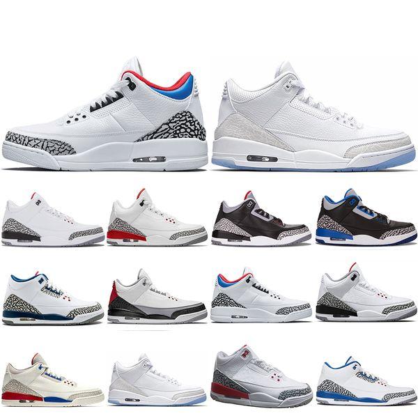 New Classic 3 3s Men Basketball Shoes SEOUL Katrina Mocha Charity Game Pure White Infrared Fly Black III Sports Shoe Designer Sneaker 8-13