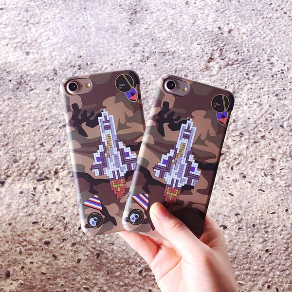 Europe And The United States Protective Case Frosted Popular Logo Black Male Green Camouflage The Rockets for iphone 6 7 8 PLUS