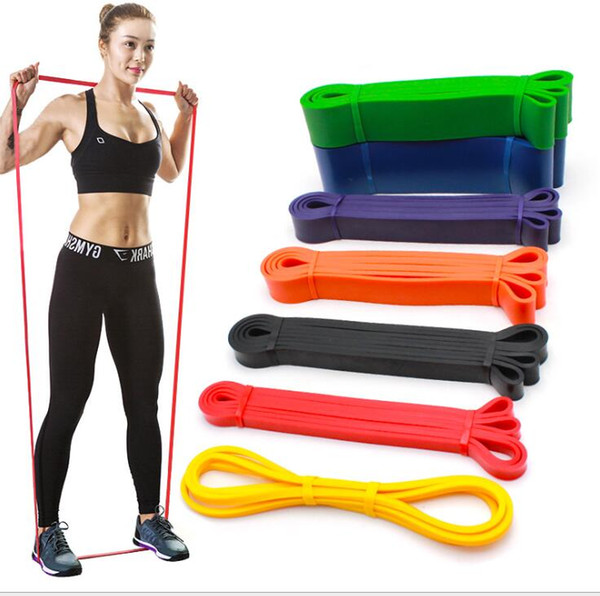 top popular Resistance Band Training elastic band Rubber loop ring strength training Pilates fitness equipment expander gym workout bands strap 2021
