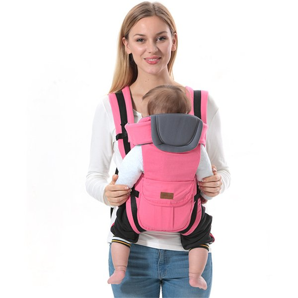 High Quality Baby Carrier 0-30 Months Breathable Front Facing Baby Carrier Safety Infant Comfortable Sling Backpack Pouch Wrap Y19052102