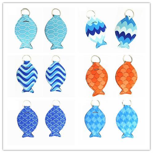 Fat Fish fone Sleeve Neoprene peixe bonito Forma Chaveiro Presentes Car Bag Chaveiro Moda Chaveiro Pingente Brinquedos 2020 Chegada Nova E11601