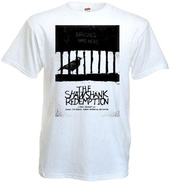 Shawshank Redemption V8 T Gömlek Beyaz Film Afiş Tüm Boyutları S 5xl 100% Pamuk Kısa Kollu O-Boyun Üstleri Tee Gömlek
