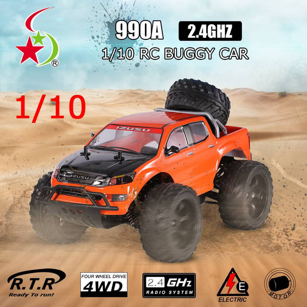 Creative Double Star 990A 1/10 2.4G 4 roues motrices Rock Crawler Monster Truck tout-terrain RC Voiture Buggy RTR Orange EU Plug US Stock