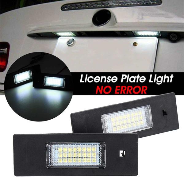 2pcs 12V LED-Lizenz Kennzeichenleuchte Kein Fehler für BMW 1 Series 6 Series Z Series E81 E87 E63 E64 E85 E89 MINI